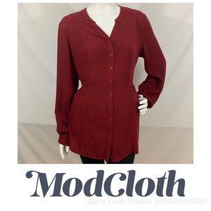 ModCloth Tab Sleeve Button-down Tunic